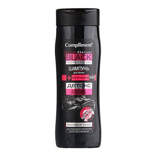 Compliment Black Professional Шампунь для волос, активный уголь+co-enzyme q10 ..