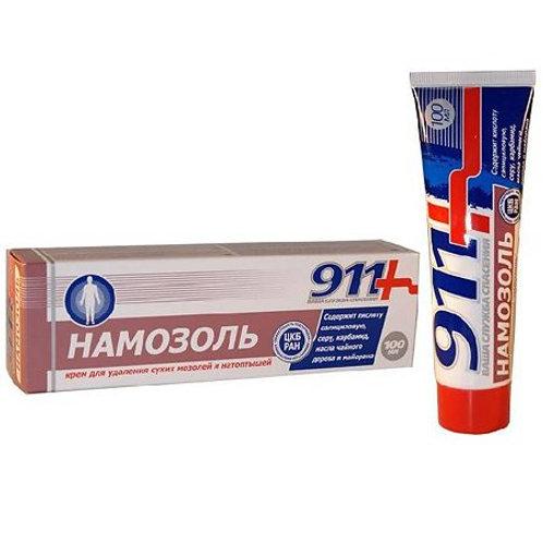 911 Намозоль, крем для удаления сухих мозолей и натоптышей, 100