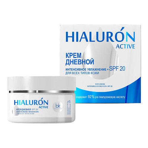 BelKosmex Hialuron Active Крем дневной интенсивное увлажнение + SPF 20 для все..