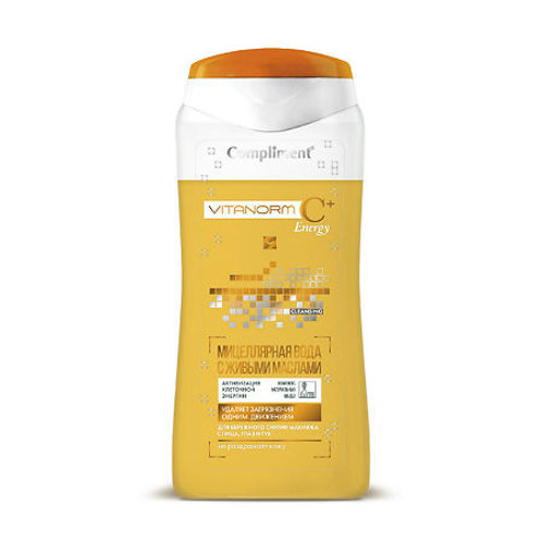 Compliment Vitanorm C+Energy Мицеллярная вода с живыми маслами, 200мл