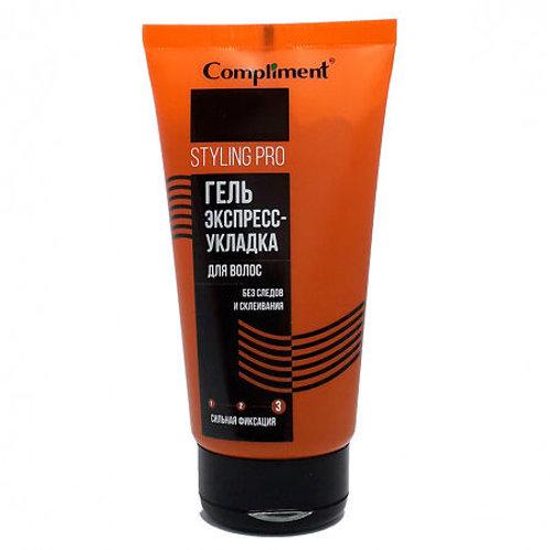Compliment Styling Pro Гель Экспресс-Укладка для волос сильная фиксация, 165 мл