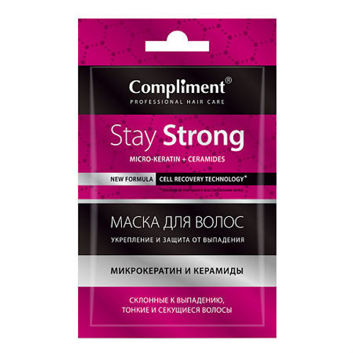 Compliment Саше маска для волос Stay strong Укрепление и защита от выпадения, ..