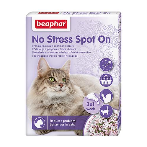 Beaphar No Stress Spot OnКапли успокаивающие для кошек, 3 пипетки