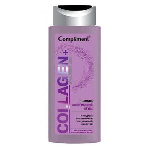 Compliment Collagen+Hyaluronic Acid Шампунь Экстремальный объем для поврежденн..