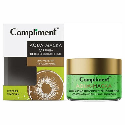Compliment Aqua-маска для лица Detox и увлажнение с экстрактом киви и ниацинам..