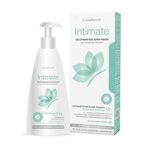 Compliment Intimate Экстрамягкое Крем-мыло для интимной гигиены, 250мл