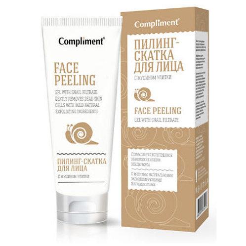 Compliment Пилинг-скатка для лица, с муцином улитки, 80мл