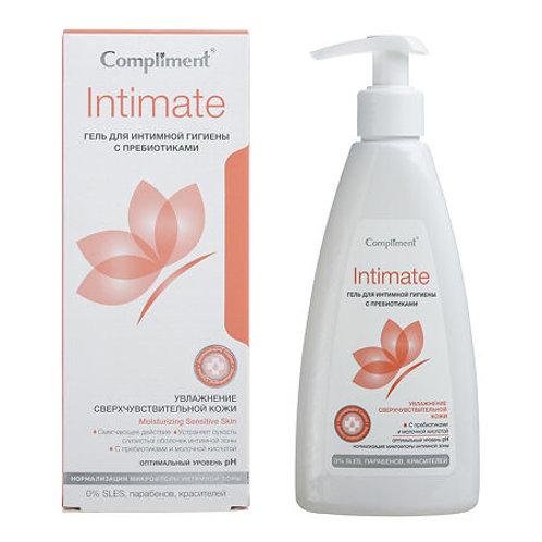 Compliment Intimate Гель для интимной гигиены с пребиотиками, 250мл