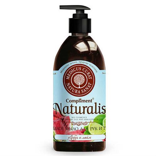 Compliment Naturalis жидкое мыло, арбуз и лайм 500мл