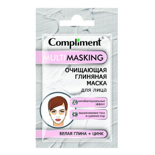Compliment Multimasking очищающая маска для лица с белой глиной и цинком саше,..