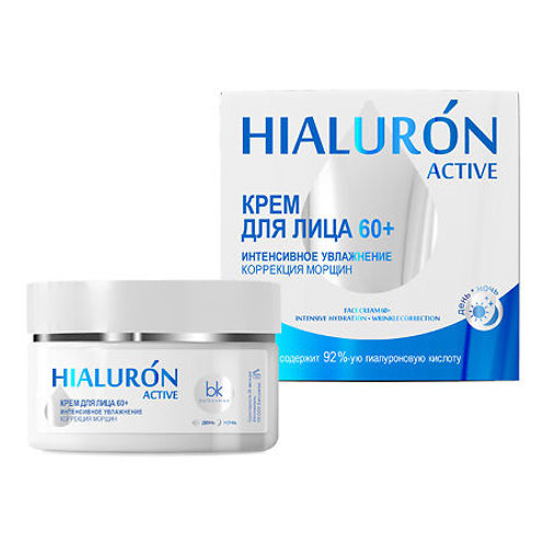 BelKosmex Hialuron Active Крем для лица 60+ интенсивное увлажнение коррекция м..