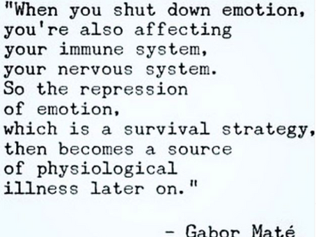 Shutting Down Emotion - The Mind/Body Connection