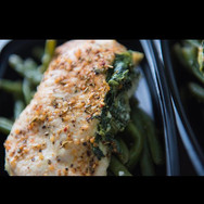 Stuffed chicken and green beans... #keto