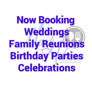 Now booking for all celebrations. Call,