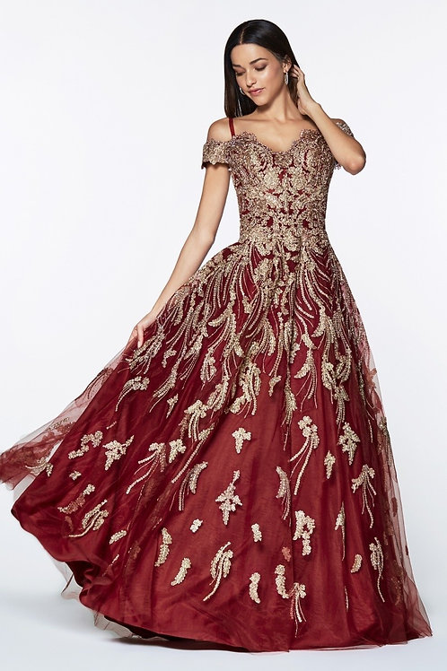 Vestido de Fiesta Vino