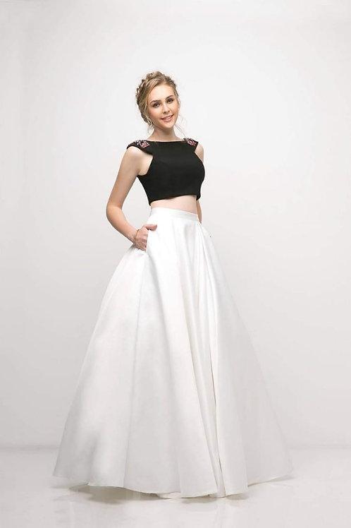 Vestido blanco & negro