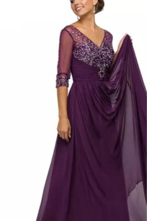 Vestido berenjena