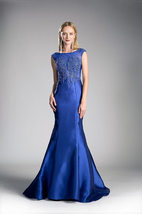Vestido azul sirena