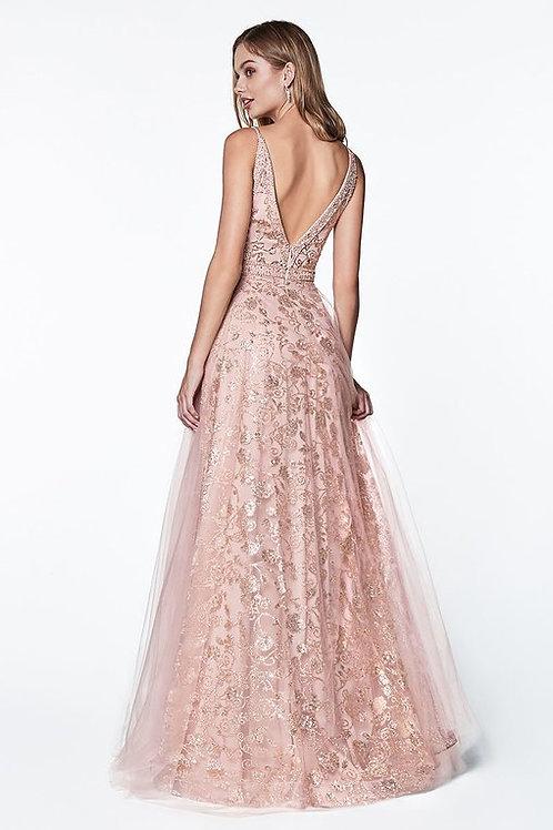 Vestido Oro Rosa