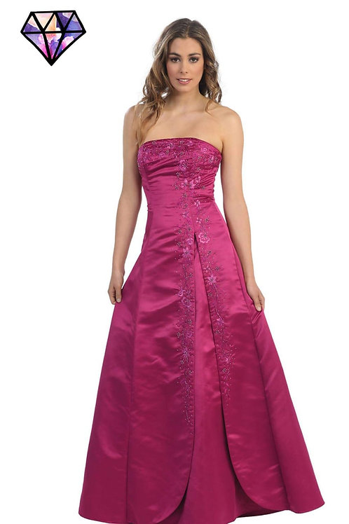 Vestido de fiesta fuchsia