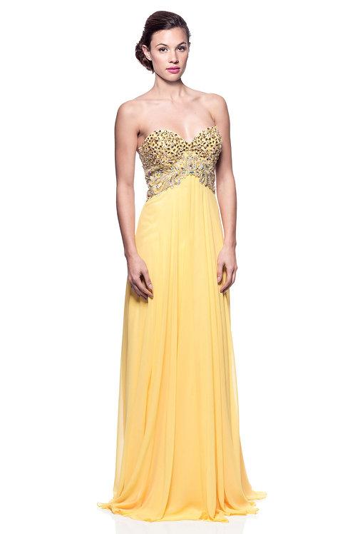Vestido amarillo Strapless