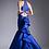 Thumbnail: Vestido azul rey con cauda