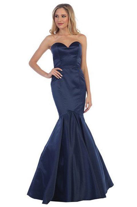 Vestido Azul Marino Sirena
