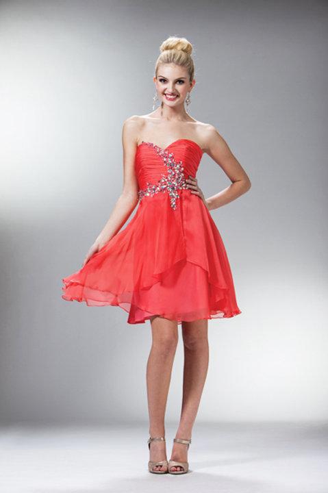 Vestido Naranja Corto