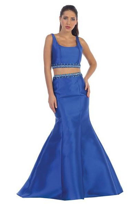 Vestido dos piezas azul rey