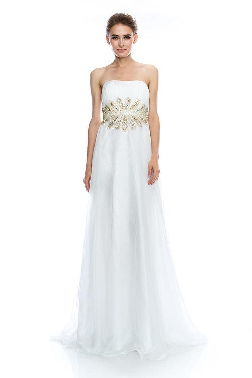 Vestido Blanco Strapless