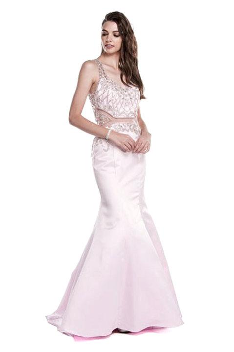 Vestido Rosa con Transparencias