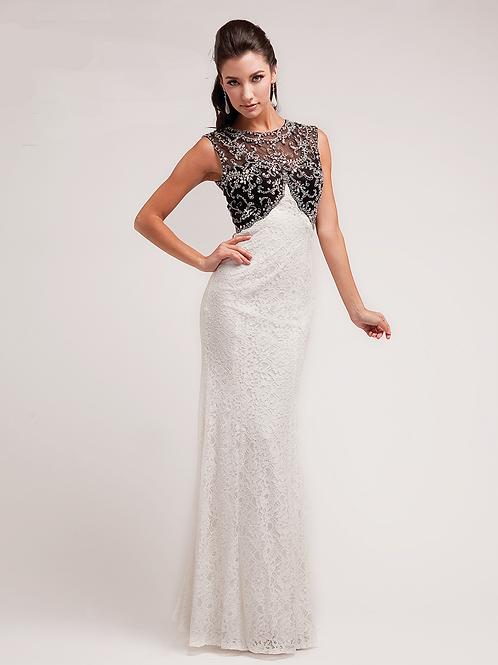Vestido blanco & negro pegado