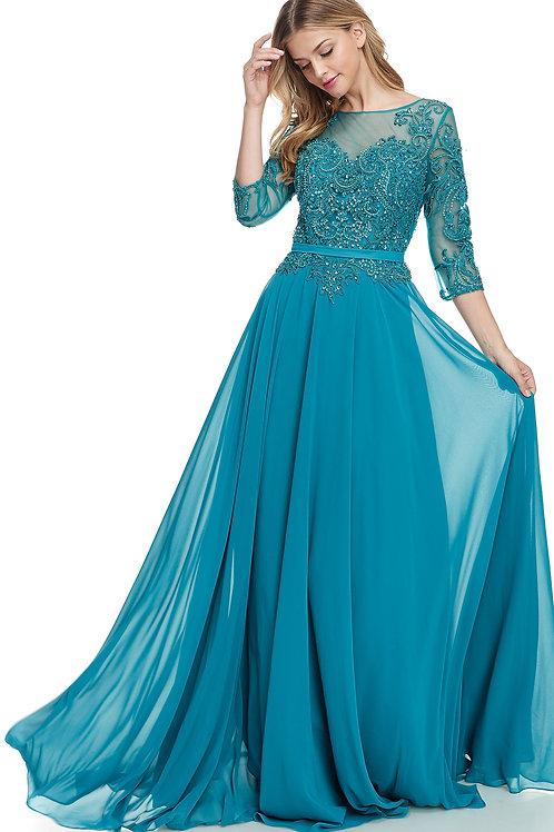 Vestido Azul Teal