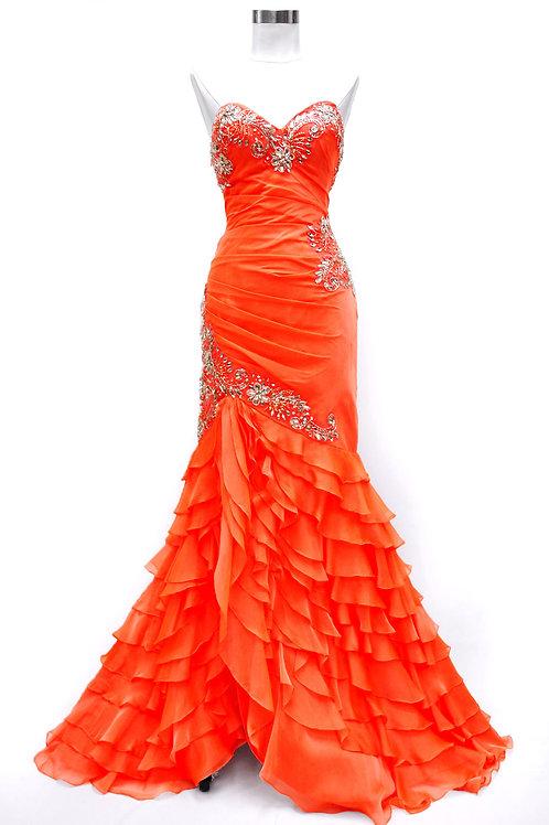 Vestido Naranja Sirena