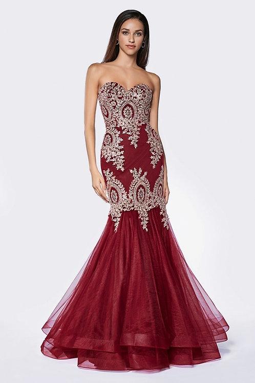Vestido vino sirena
