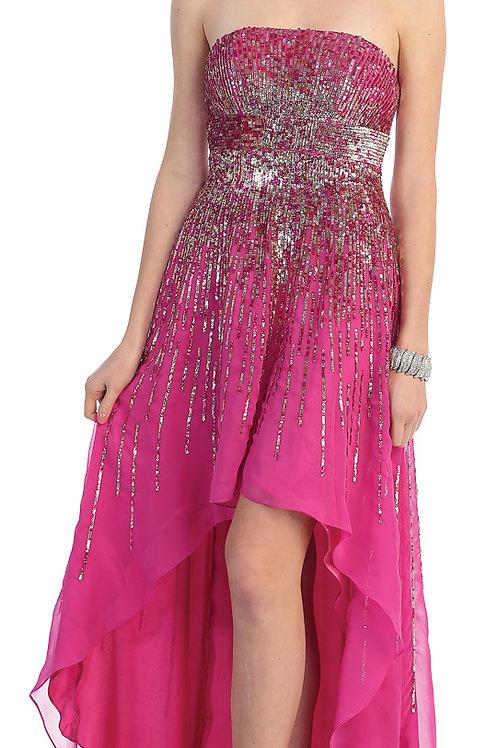 Vestido Fuchsia Lentejuelas