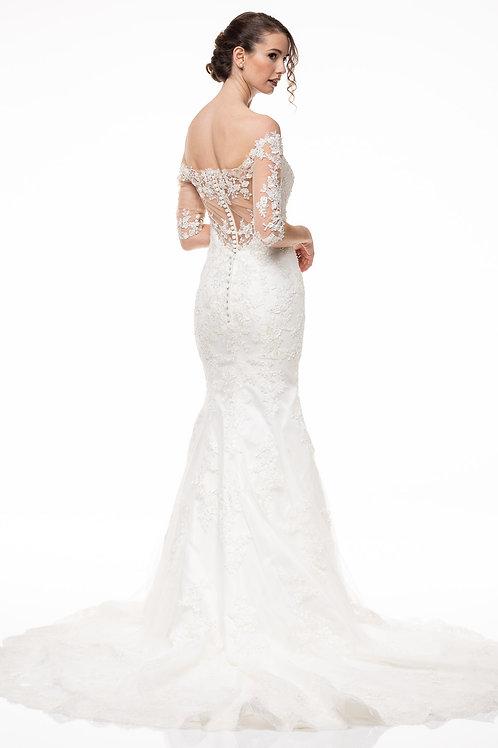 Vestido de Novia Sirena ConMangas