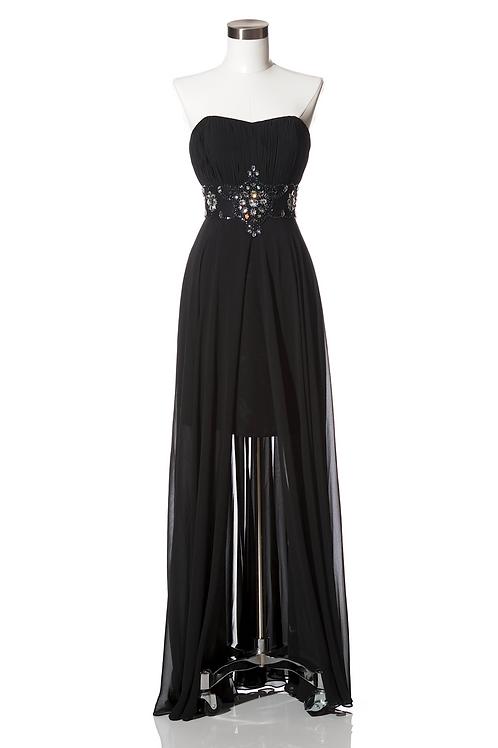 Vestido Negro Corto-Largo