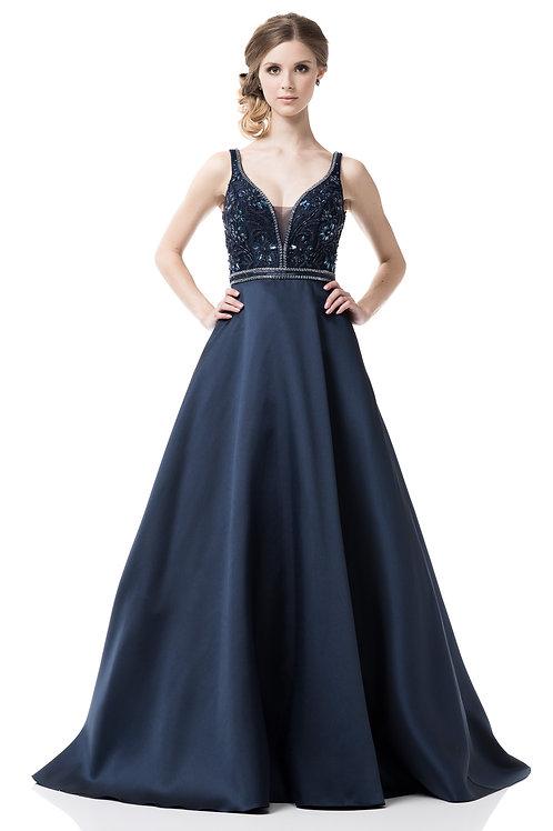 Vestido azul marino princesa