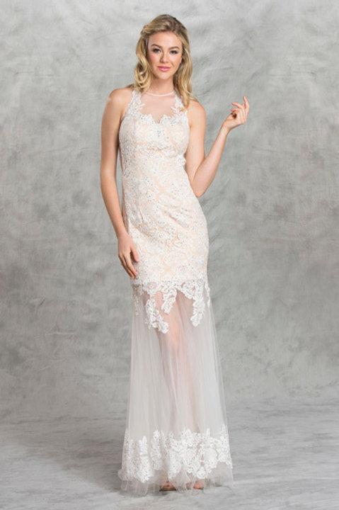 Vestido Blanco Nude