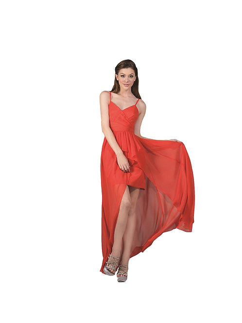 Vestido Corto-Largo Naranaja