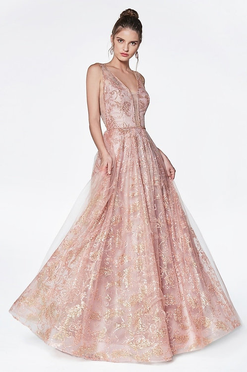 Vestido de fiesta Oro Rosa