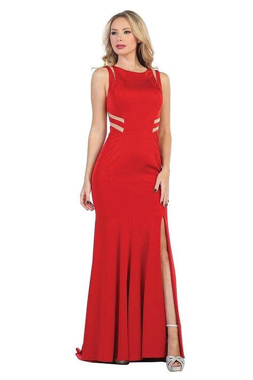 Vestido rojo pegado