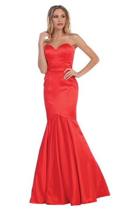 Vestido Rojo Sirena