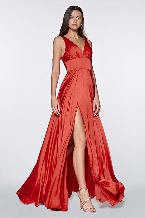 Vestido Rojo Liso