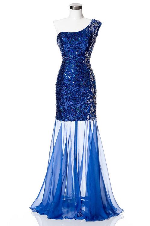Vestido Azul Corto-Largo