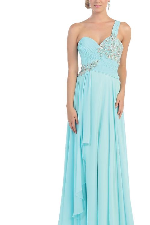 Vestido azul aqua