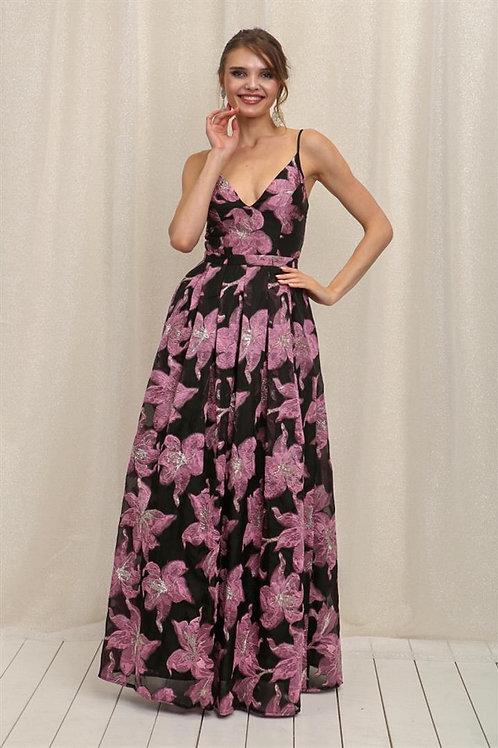 Vestido Floreado Rosa