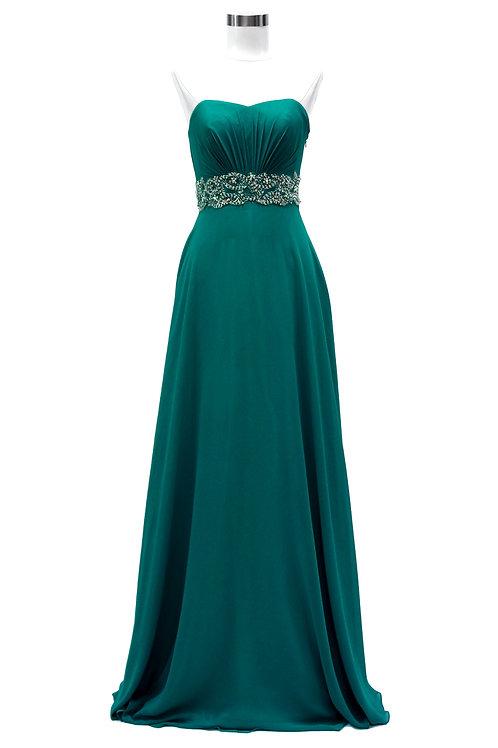 Vestido Verde Strapless