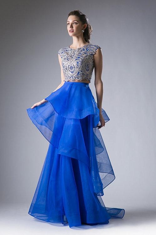 Vestido Azul Rey Dos Piezas